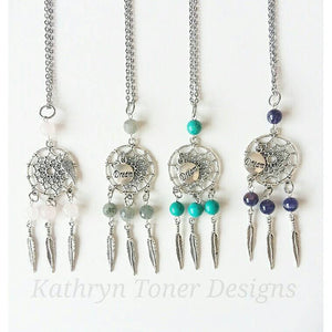 Gemstone Dream Catcher Necklace