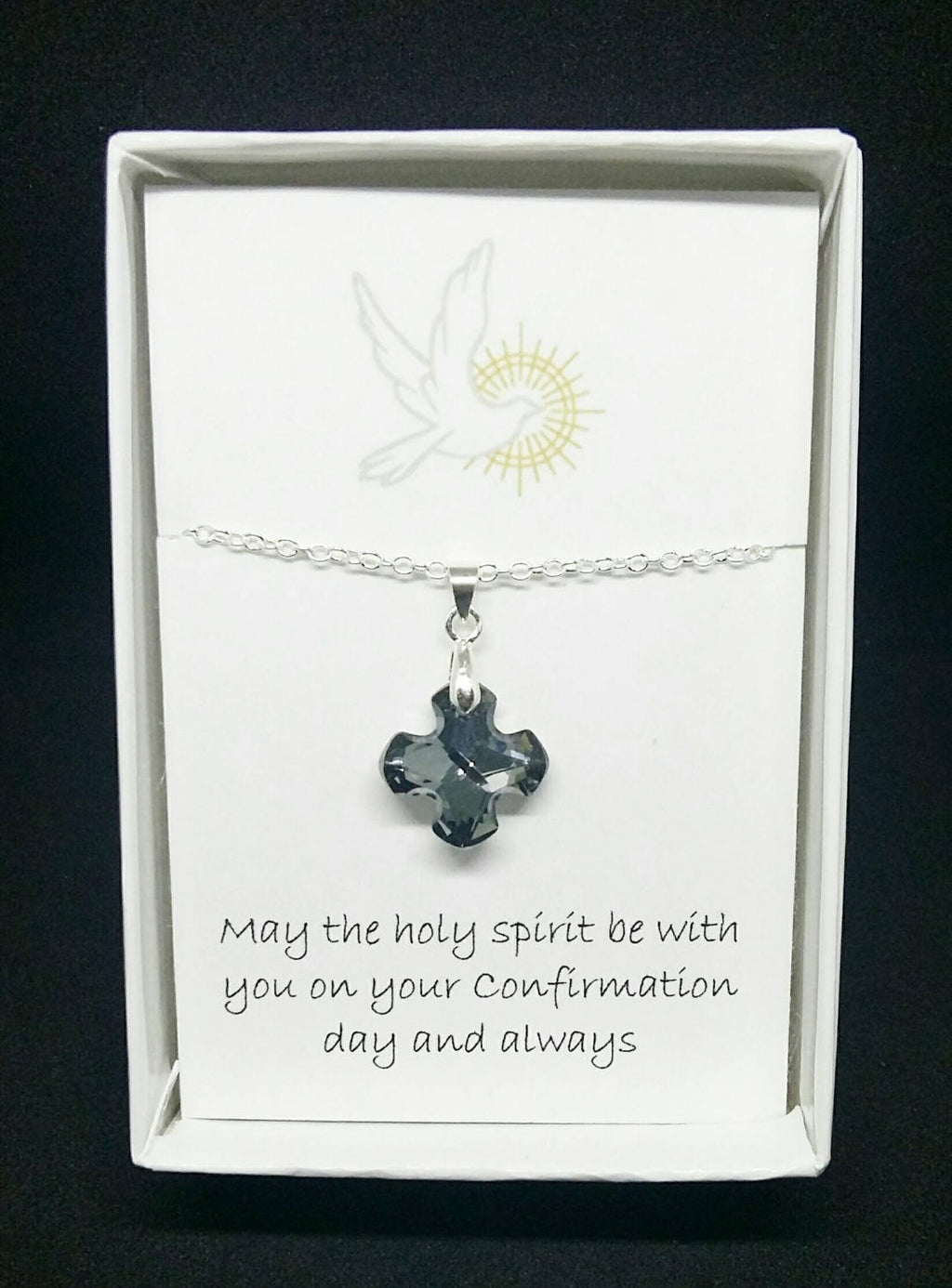 Confirmation Gift- Swarovski Crystal Cross Necklace