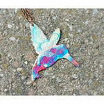 Flame Painted Copper Hummingbird Necklace