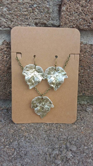 Limited Edition Canada 150 Maple Leaf Necklace and Earrings
