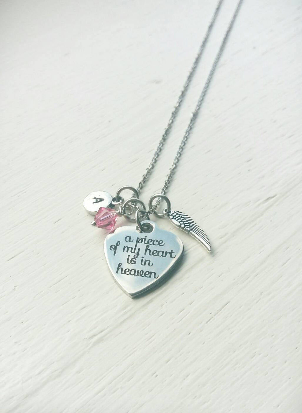 Memorial Necklace- A Piece of My Heart is in Heaven
