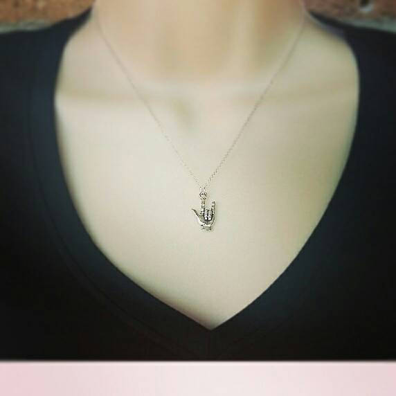 Sign Language I Love You Necklace