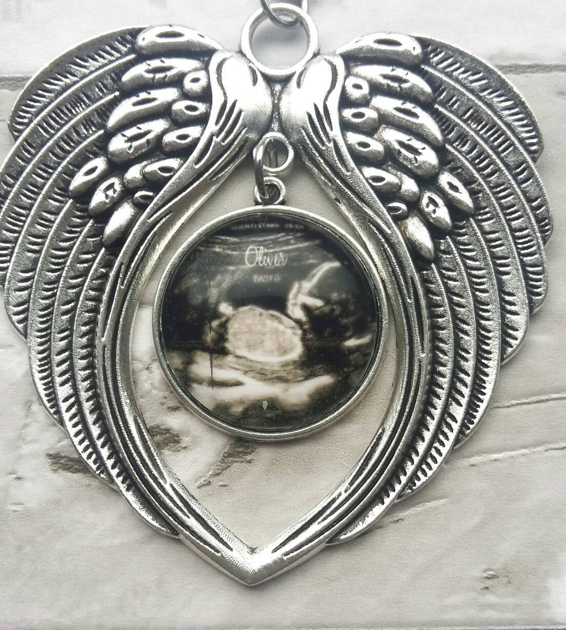 Miscarriage Memorial Ornament- personalized with ultrasound