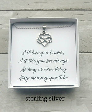 I'll Love you Forever Infinity Necklace for Mom