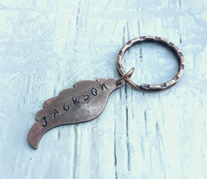 Memorial Personalized Angel Wing Keychain