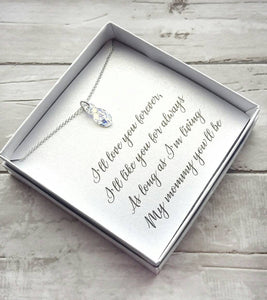 Swarovski Crystal Infinity Necklace for Mom