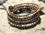 Picture Jasper Tripple Leather Wrap Bracelet