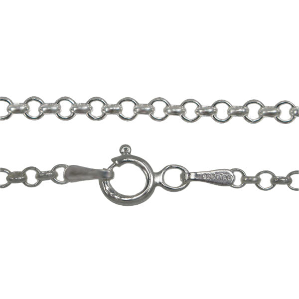 Italian Sterling Silver Rolo Chain-2mm