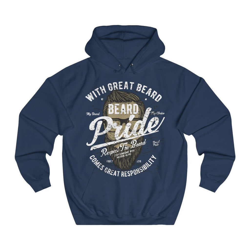 AWDis Beard Pride College Hoodie Oxford Navy / XS