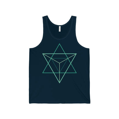 Bella+Canvas Abstract Unisex Jersey Tank Navy / S