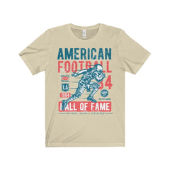 Bella+Canvas American Football Unisex Tee Natural / S