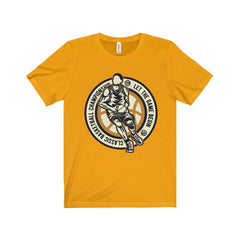 Bella+Canvas Basketball Championship Unisex Jersey Tee Gold / S