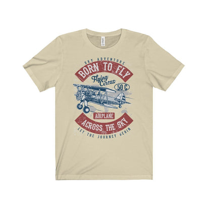 Bella+Canvas Born to Fly Unisex Jersey Tee Natural / S