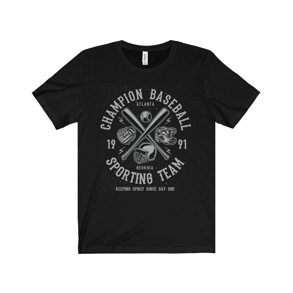 Bella+Canvas Champion Baseball Unisex Jersey Tee Black / S