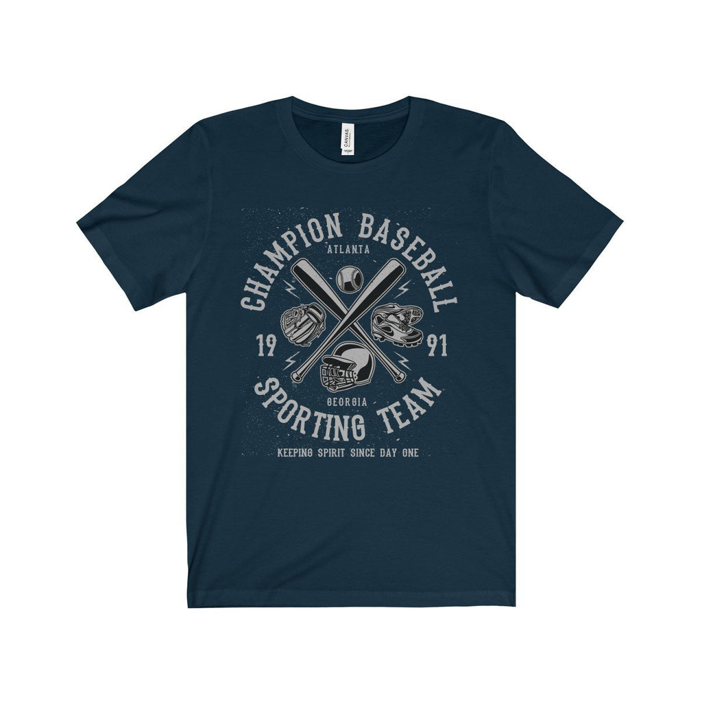 Bella+Canvas Champion Baseball Unisex Jersey Tee Navy / S