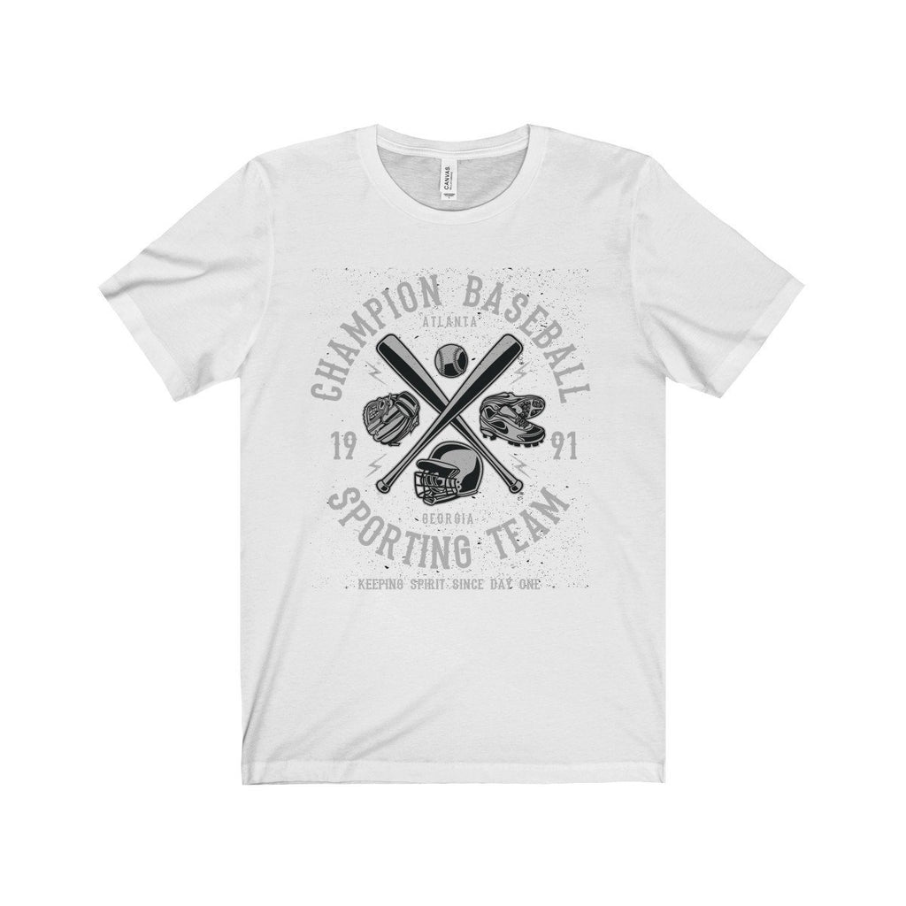 Bella+Canvas Champion Baseball Unisex Jersey Tee White / S