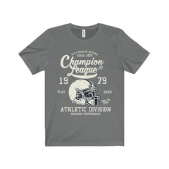 Bella+Canvas Champion League Unisex Jersey Tee Asphalt / S