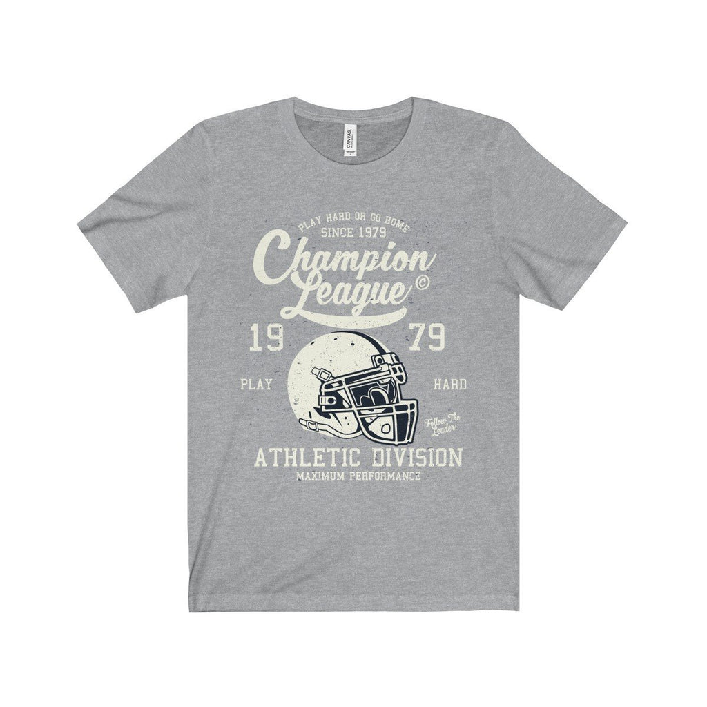 Bella+Canvas Champion League Unisex Jersey Tee Athletic Heather / S