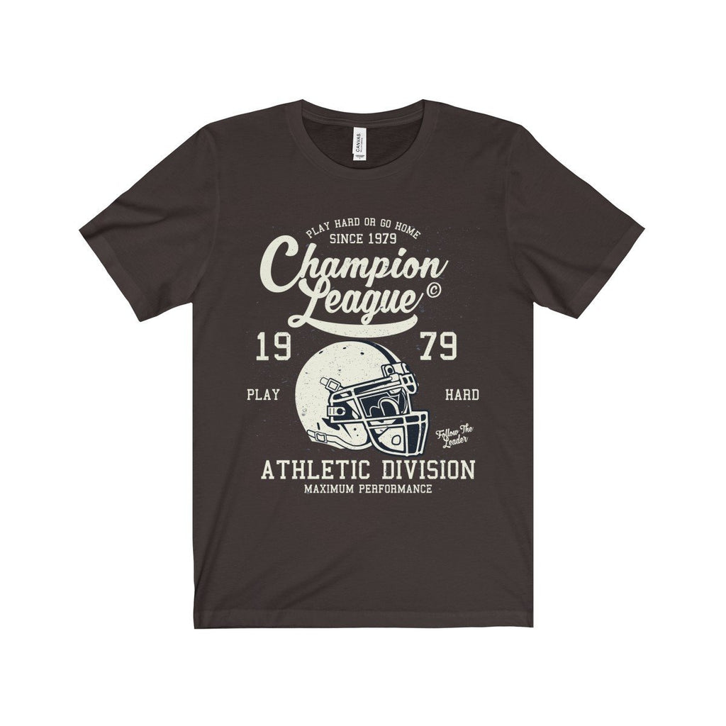 Bella+Canvas Champion League Unisex Jersey Tee Chocolate/Brown / S