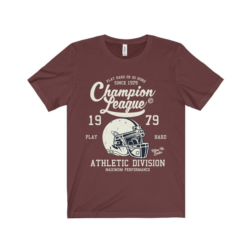 Bella+Canvas Champion League Unisex Jersey Tee Maroon / S