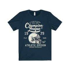 Bella+Canvas Champion League Unisex Jersey Tee Navy / S