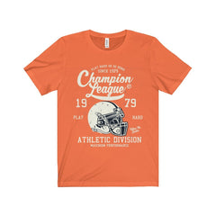 Bella+Canvas Champion League Unisex Jersey Tee Orange / S