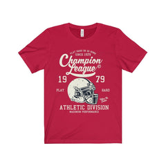 Bella+Canvas Champion League Unisex Jersey Tee Red / S