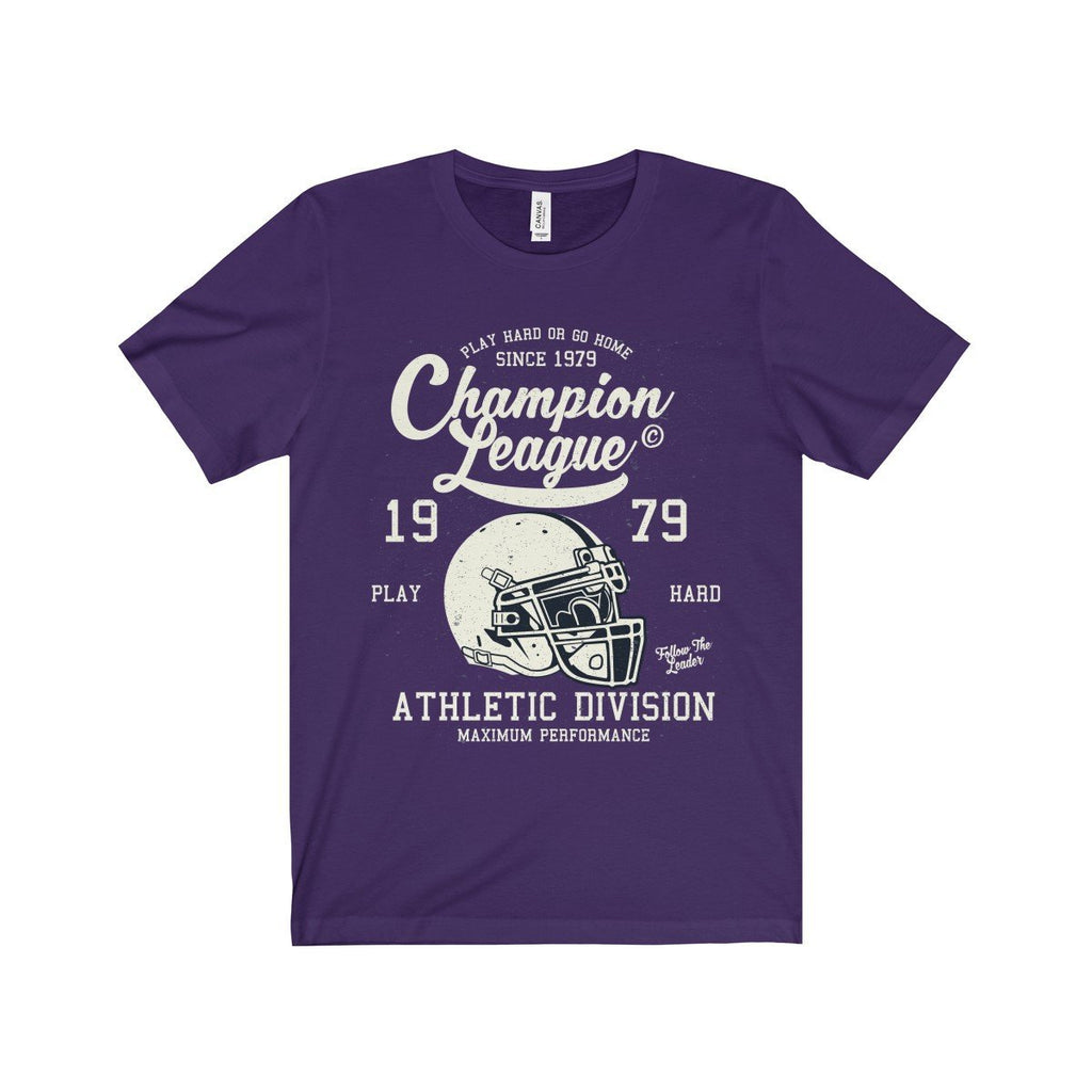 Bella+Canvas Champion League Unisex Jersey Tee Team Purple / S