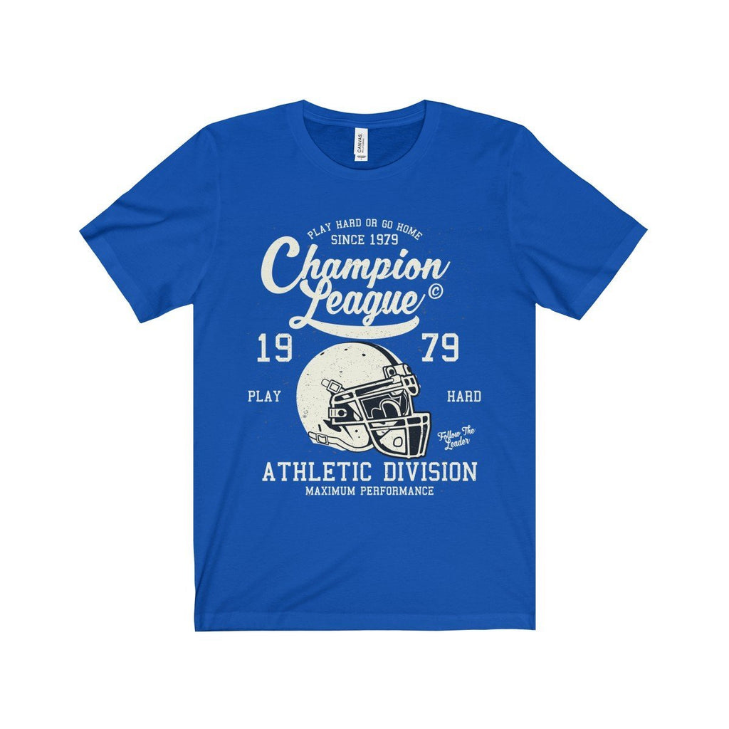 Bella+Canvas Champion League Unisex Jersey Tee True Royal / S