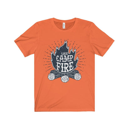 Bella+Canvas Like Campfire Unisex Jersey Tee Orange / S