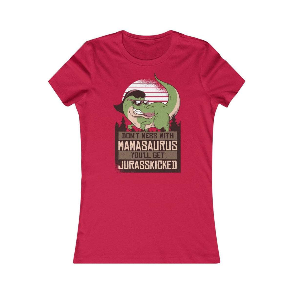 Bella+Canvas Mamasaurus Women's Favorite Tee Red / S