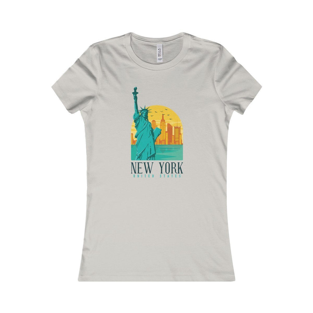 Bella+Canvas New York Favorite Tee Silver / S