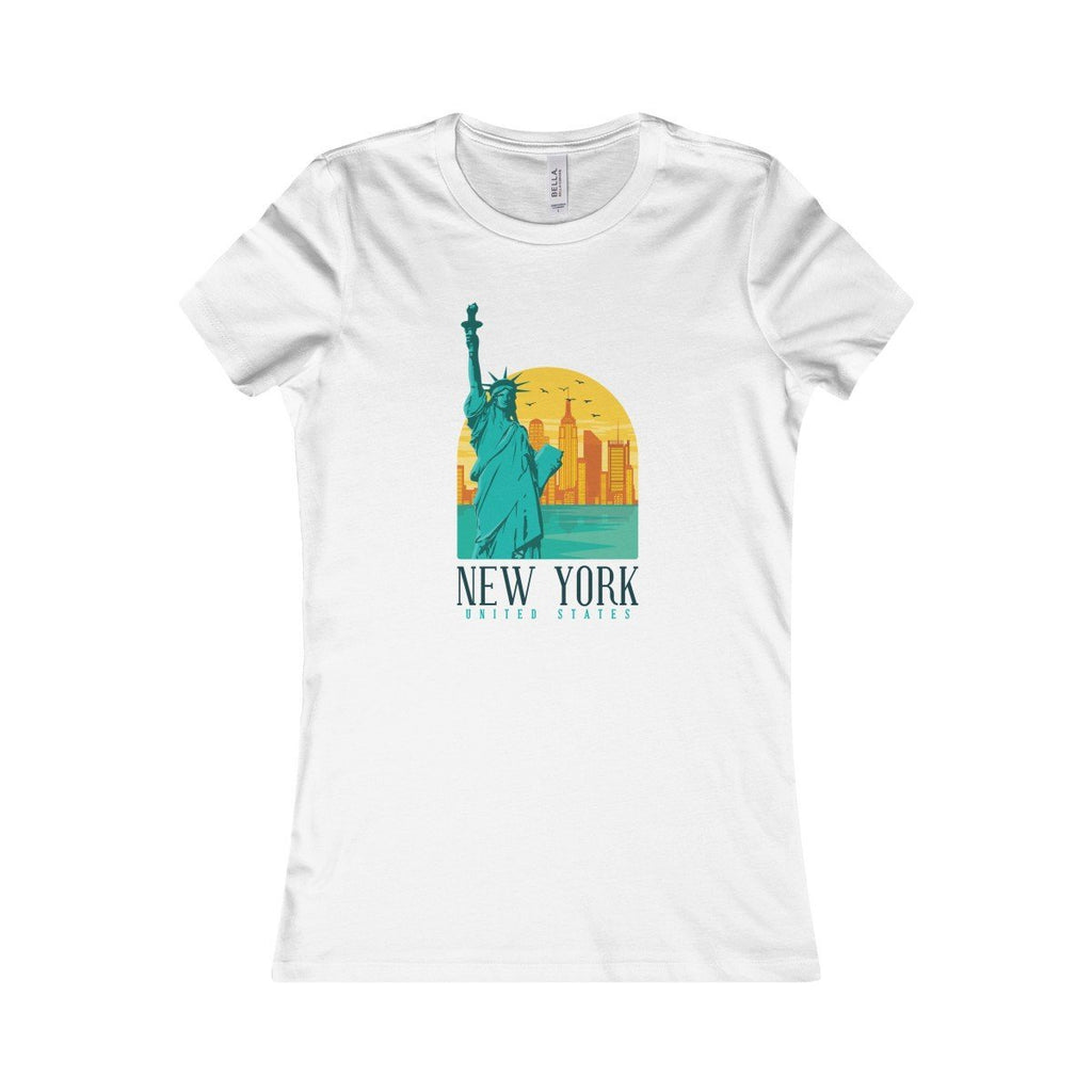Bella+Canvas New York Favorite Tee White / S