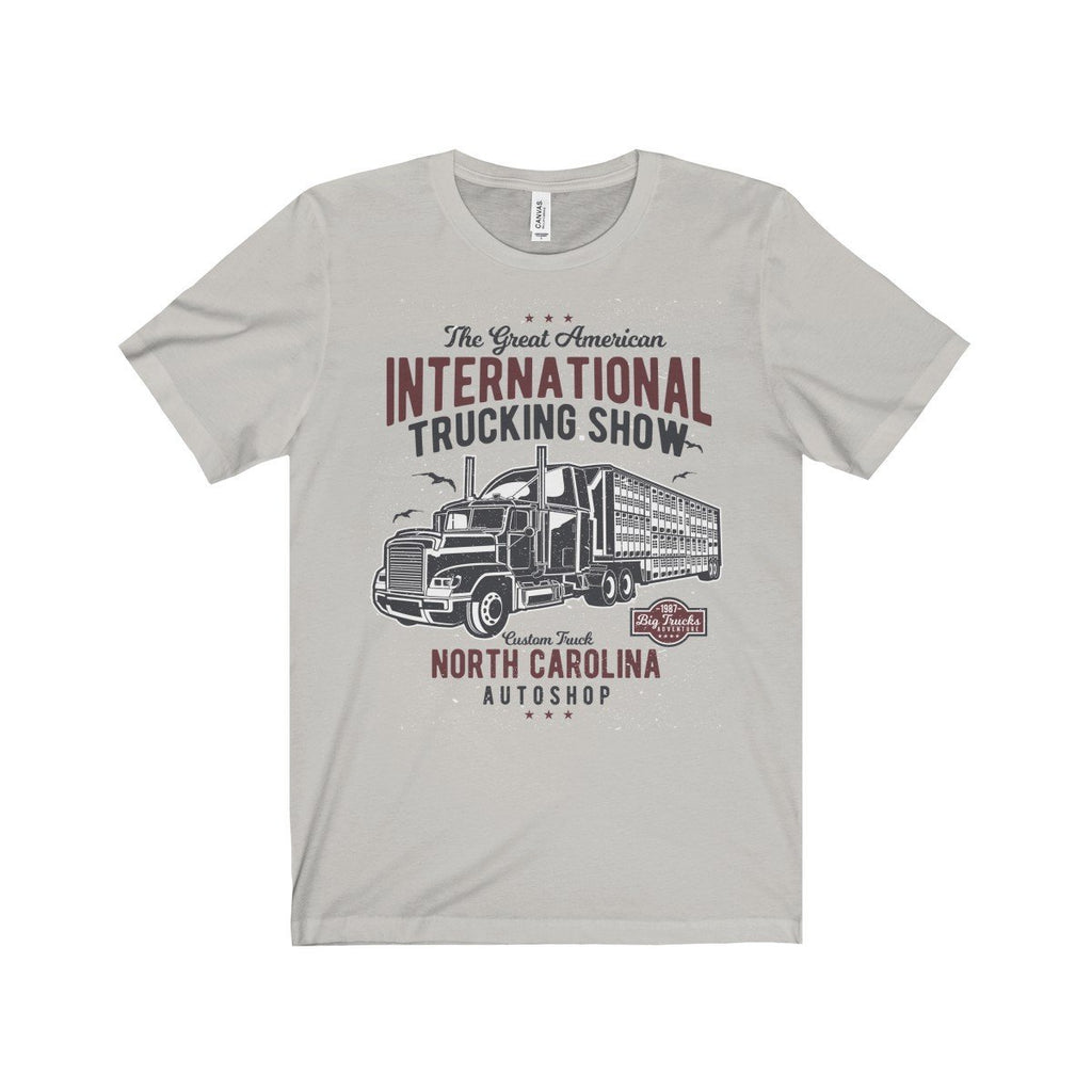 Bella+Canvas Trucking Show Unisex Jersey Tee Silver / S