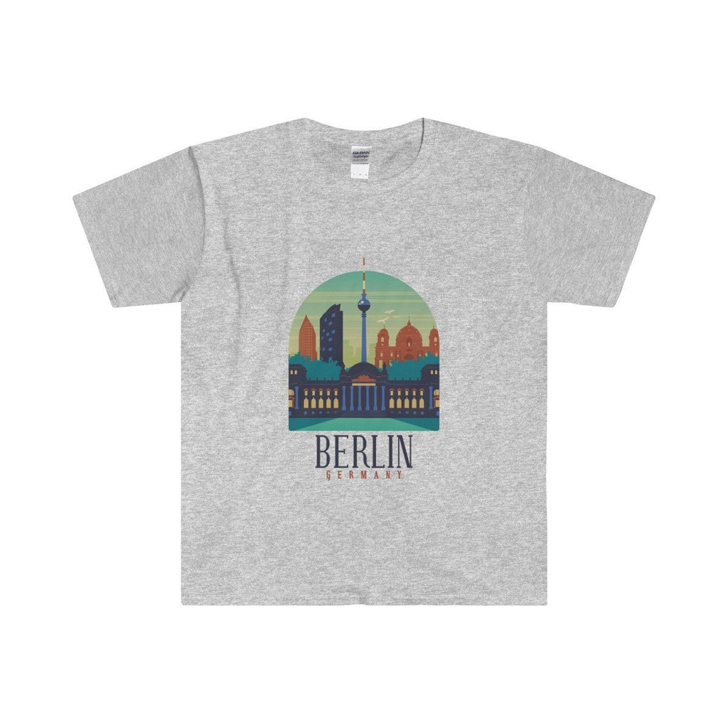 Gildan Berlin Fitted Tee Sport Grey / S