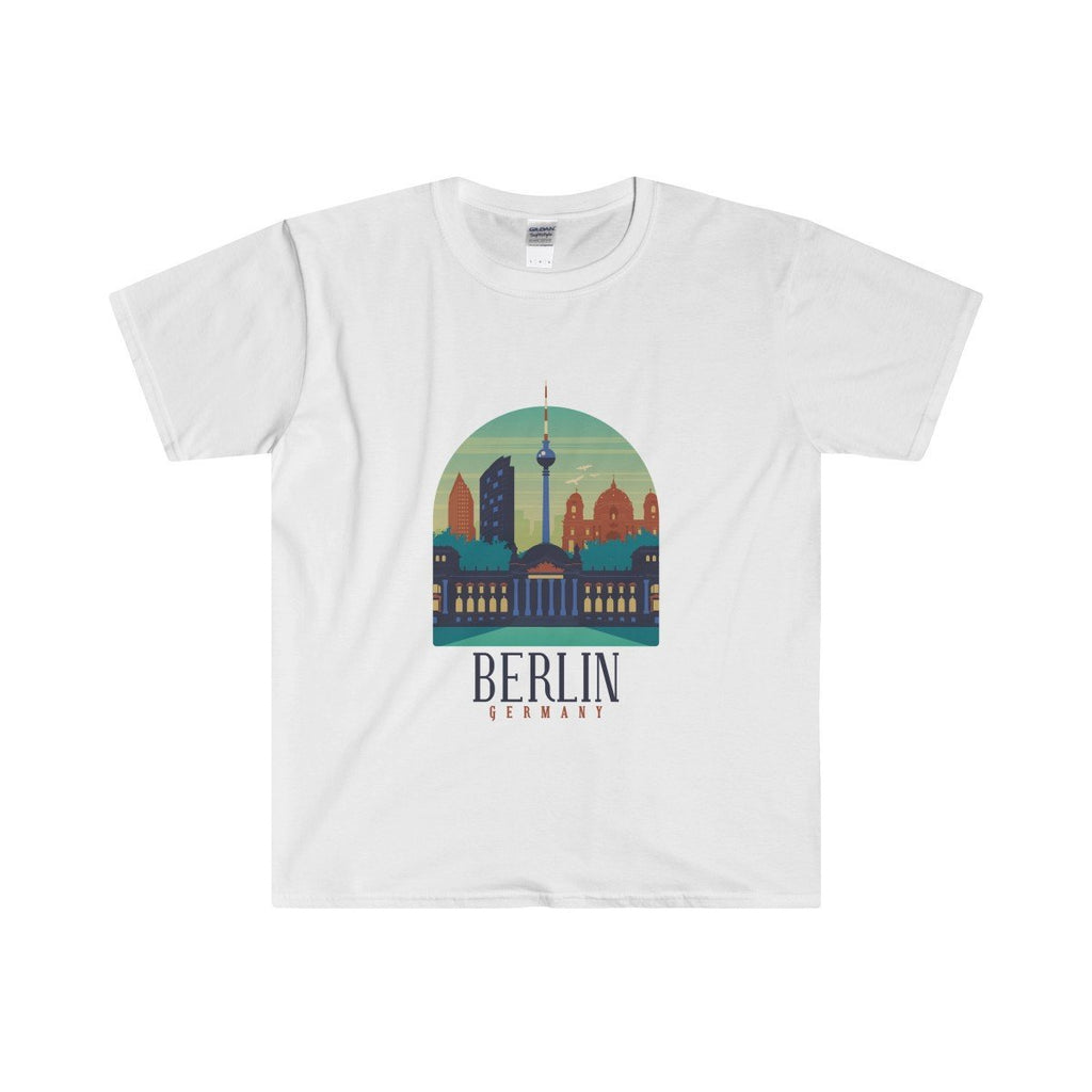 Gildan Berlin Fitted Tee White / S