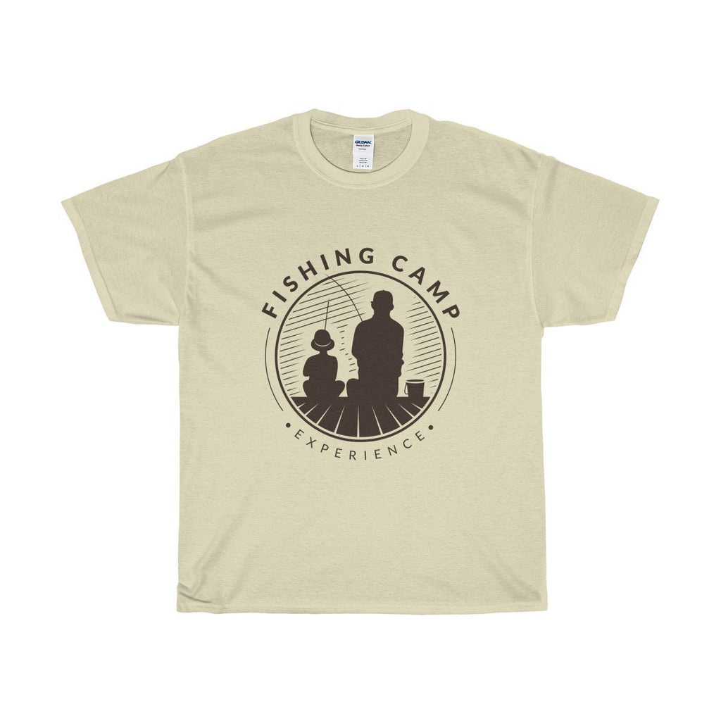 Gildan Fishing Camp Unisex Heavy Cotton Tee Natural / S