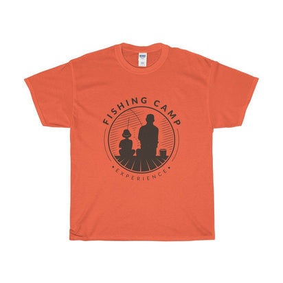Gildan Fishing Camp Unisex Heavy Cotton Tee Orange / S