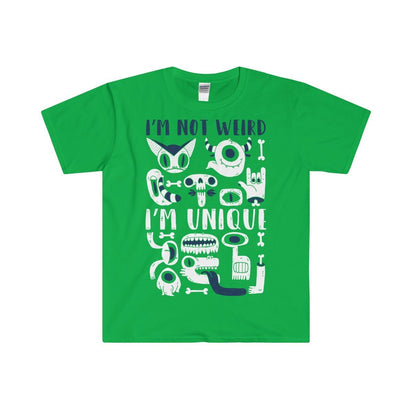 Gildan I'm not Weird Fitted Tee Irish Green / S