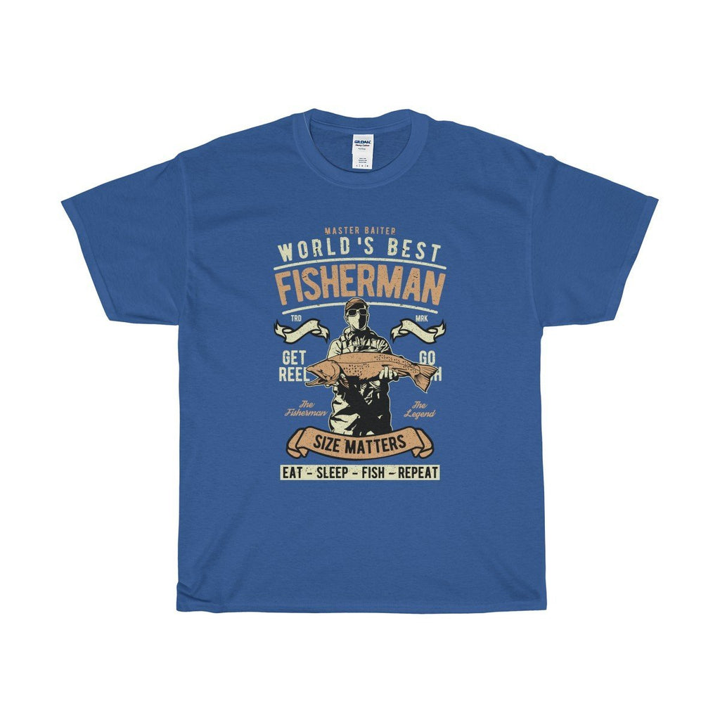 Gildan Master Baiter Unisex Heavy Cotton Tee Royal / S