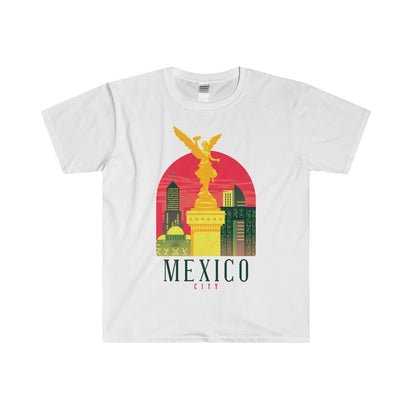 Gildan Mexico Fitted Tee S / White