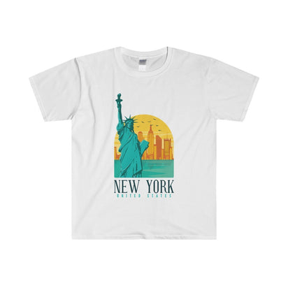 Gildan New York Fitted Tee S / White