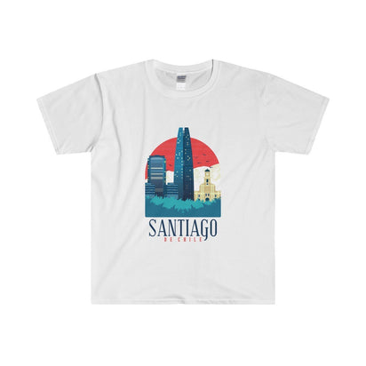 Gildan Santiago Fitted Tee S / White