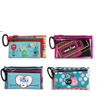 3 Compartment pencil case