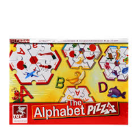 Alphabet pizza puzzle
