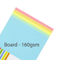 Pastel Board - Mixed Pack - 160gsm - 100 Sheets