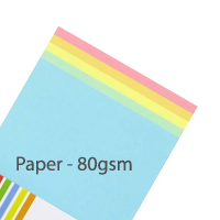 Pastel Paper - Mixed Pack - 80gsm - 100 Sheets
