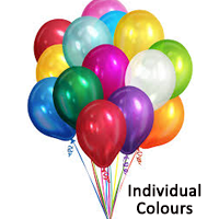 Balloons  12 inch - Individual Colours - 12's