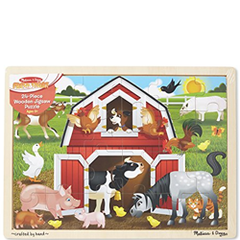 wooden farmyard puzzle