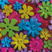 buttons bright flowers